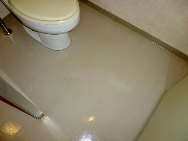共用トイレの掃除