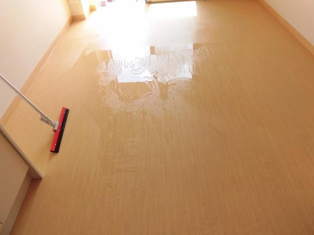 高齢者向け住宅の居室の掃除