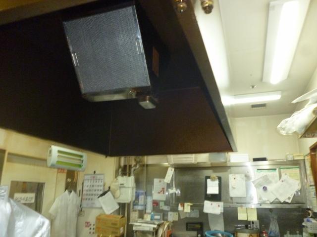 業務用厨房のレンジフード掃除